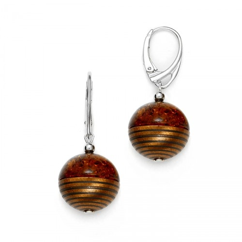 "Earrings ""Amber Satellite"""