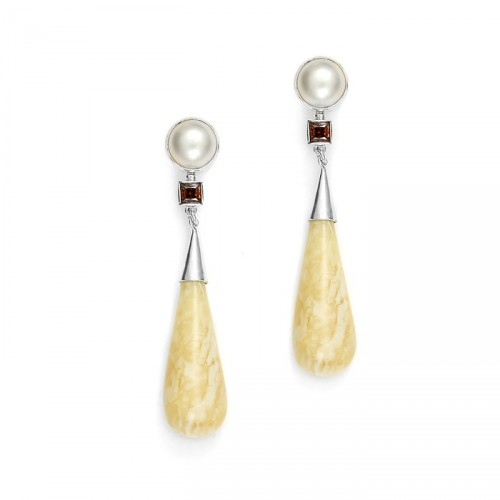 Earings amber 6