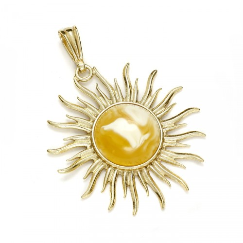 "Amber pendant ""Sun"""