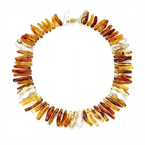Handmade amber necklace