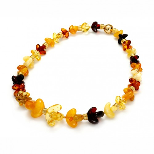 Amber necklace with magnetic clasp