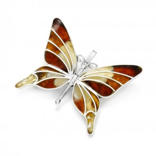 Silver Butterfly Brooch/Pendant