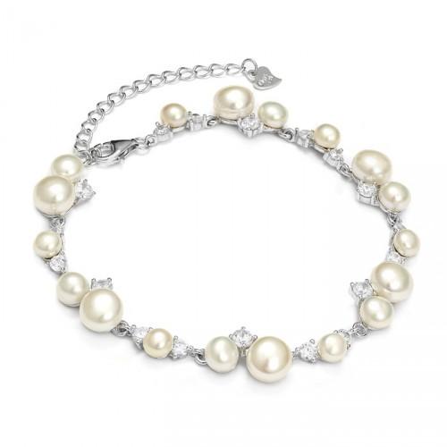 Kolekcja Princessa delikatna bransoletka z perłami