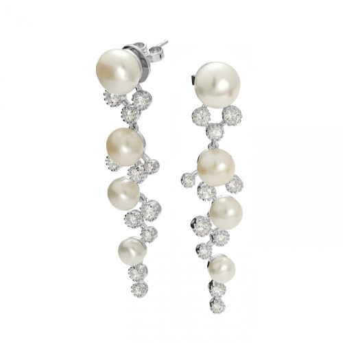 Kolekcja Princessa kolczyki z perłami