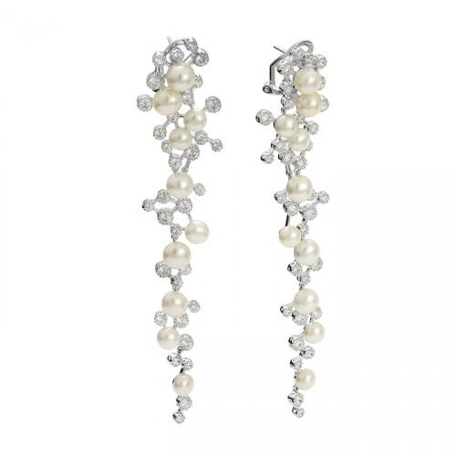 Kolekcja Princessa kolczyki długie z perłami