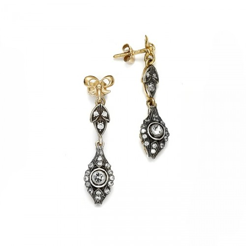 "Gold earrings ""Margharet"""