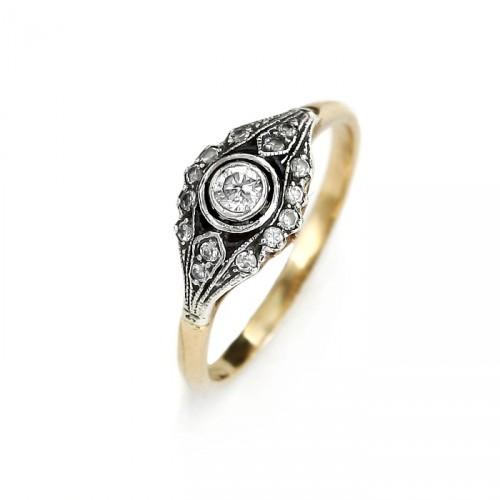 """Złoty pierścionek """"Margharet"""""""