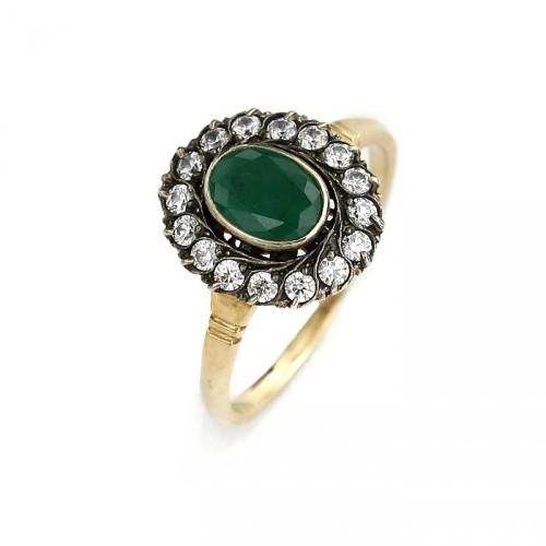 Złoty pierścionek Veronica