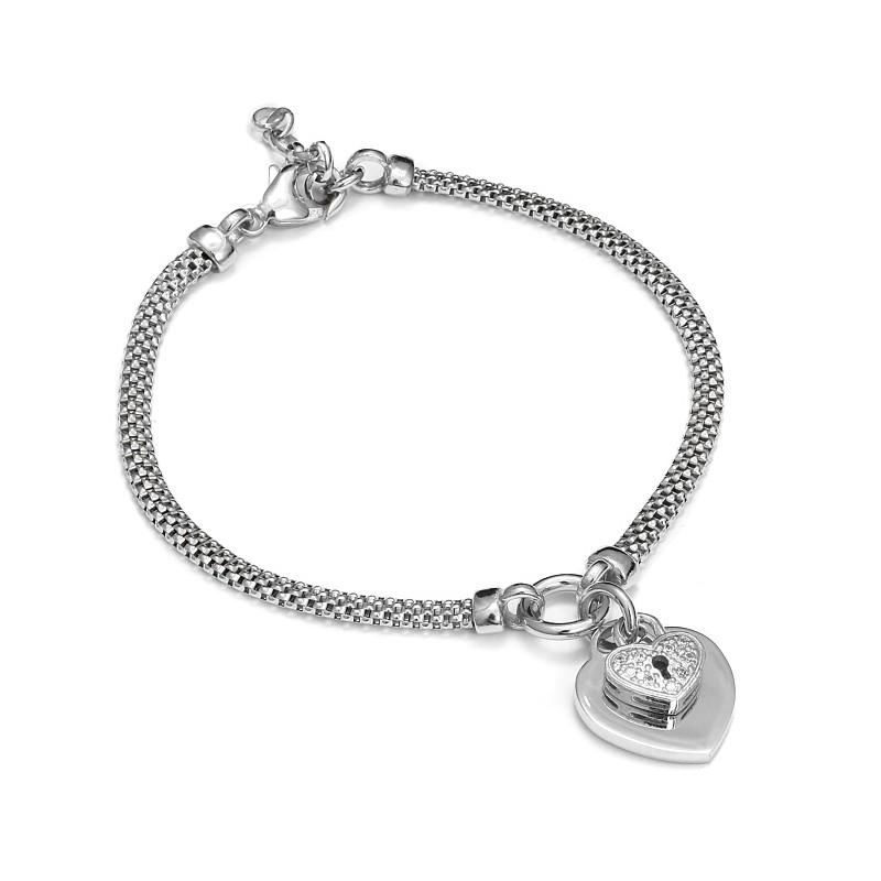 Dodatkowe Srebrna bransoletka z sercem - Firma Jubilerska Małgorzata Wąsowska FL99