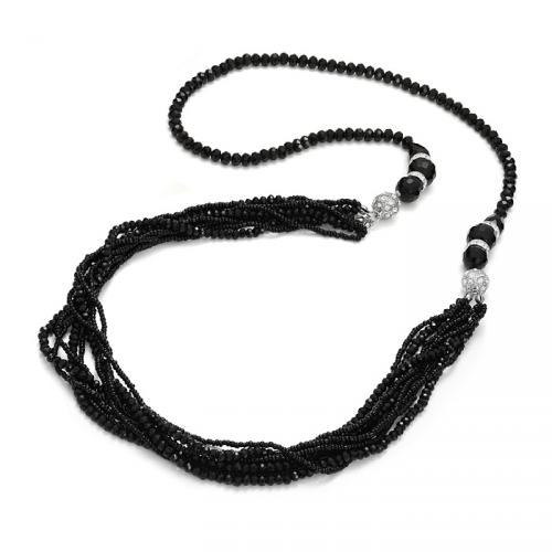 Naszyjnik dwuczęściowy w kolorze czarnym