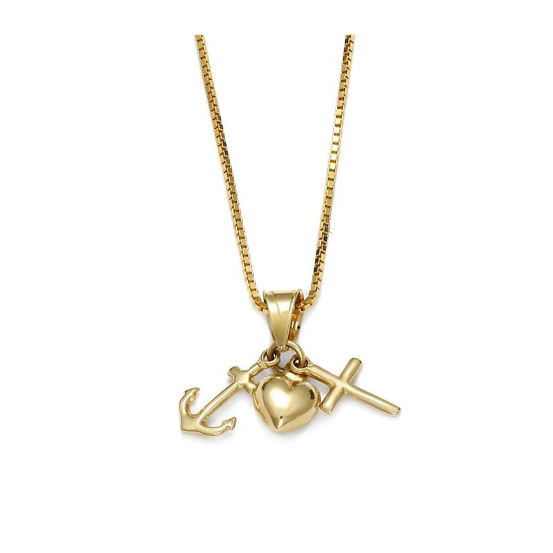 Gold pendant faith hope love firma jubilerska magorzata wsowska aloadofball Gallery