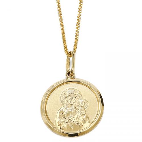 Złoty okrągły medalik