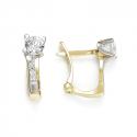 Gold earrings with zircons