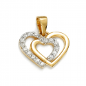 "Gold pendant ""Double hearts"""