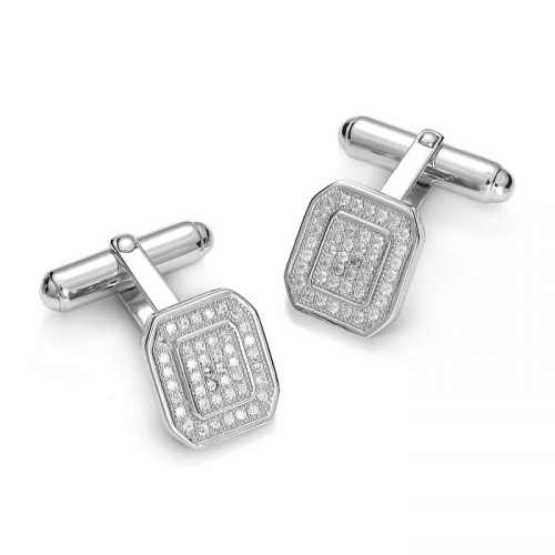 Silver cufflinks with zircons