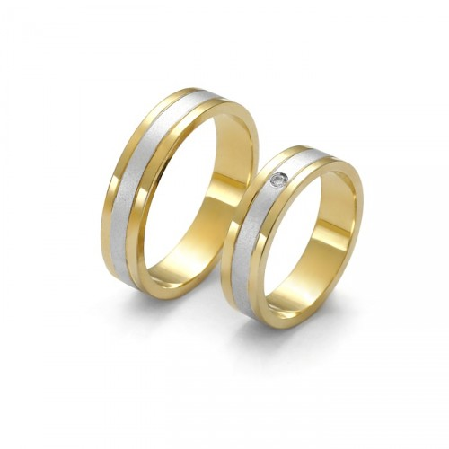 Double color gold ring