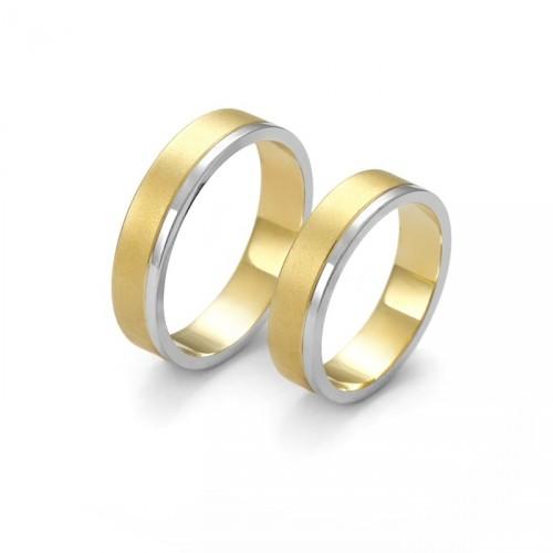 Dwukolorwa złota obrączka