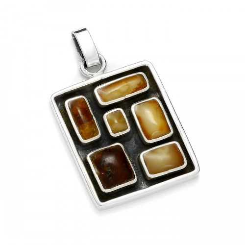 "Amber pendant ""Domino"""