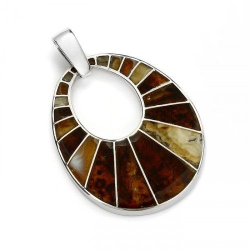 "Amber pendant ""Mosaic"""
