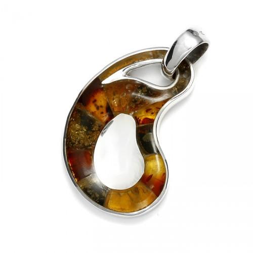 "Amber pendant ""Snail"""