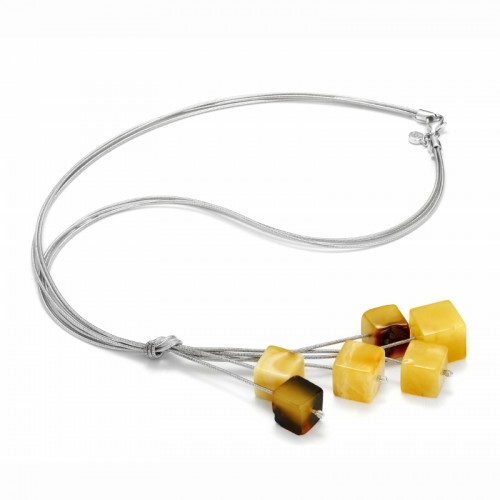 "Necklace ""Amber Tie"""