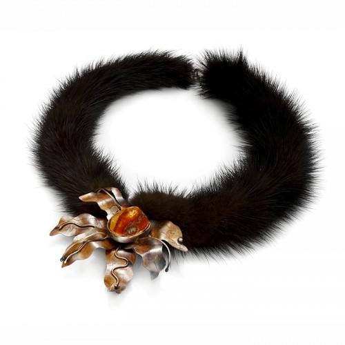 "Amber necklace ""Mink"""