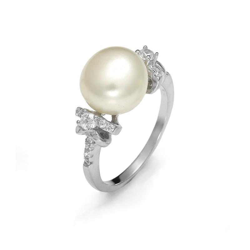 6e28efe0b1 Srebrny pierścionek z perłą i cyrkoniami - Firma Jubilerska ...