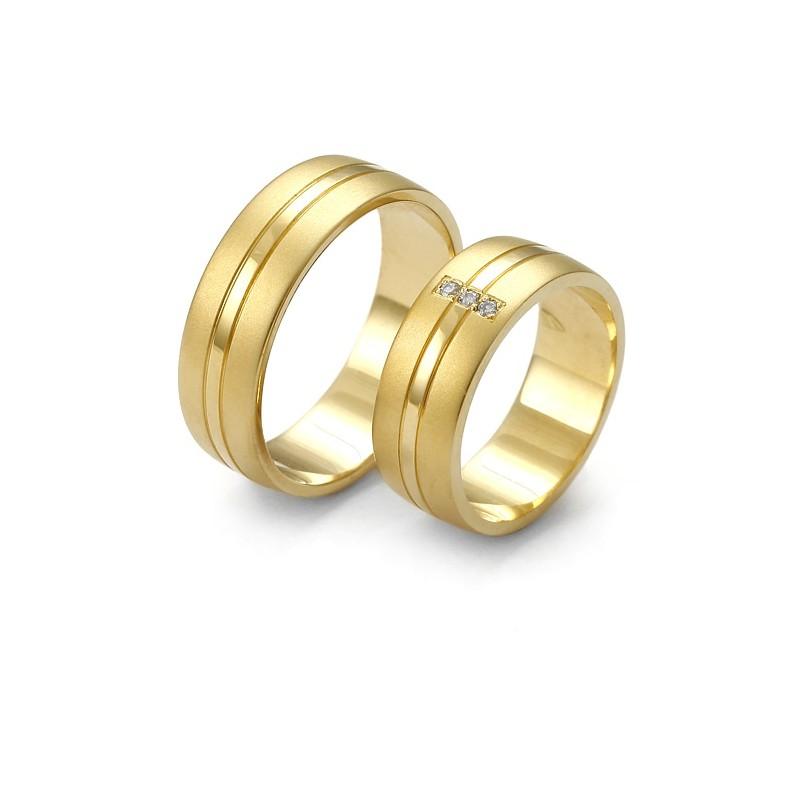 8260546681c9b8 Szeroka złota obrączka z brylantami - Firma Jubilerska Małgorzata Wąsowska