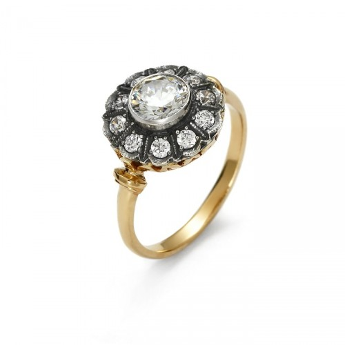 Złoty pierścionek Art Deco
