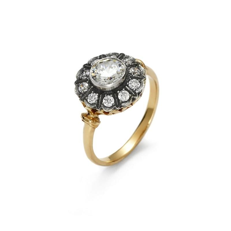 Gold ring Art Deco