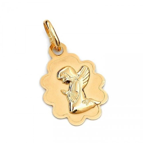 Złoty medalik z Aniołkiem