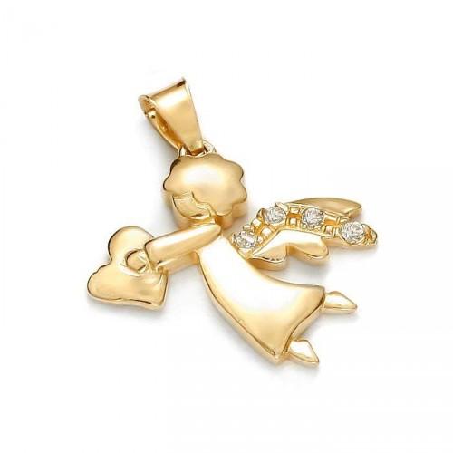 Złoty Aniołek z sercem