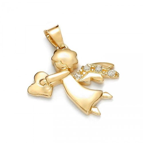 Gold Angel with heart
