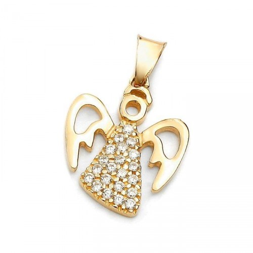 Gold Angel with zircons