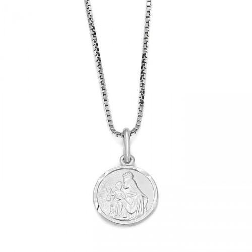 Medalik Szkaplerz z białego złota