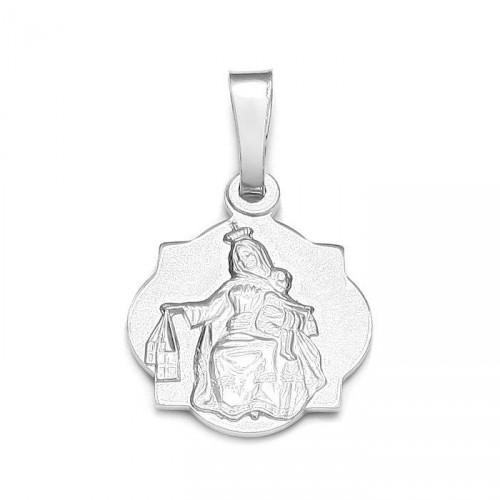 Srebrny medalik Szkaplerz