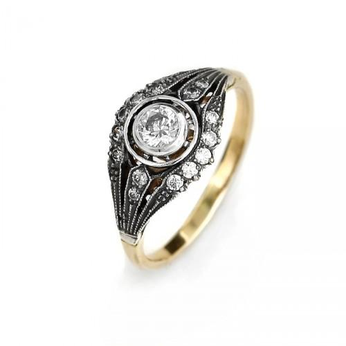 Złoty pierścionek Margharet