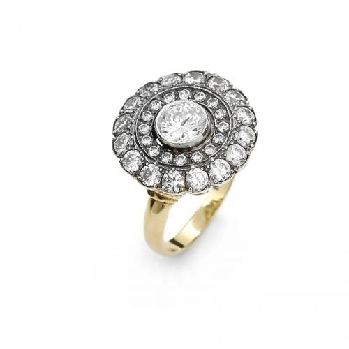 Złoty pierścionek Coco
